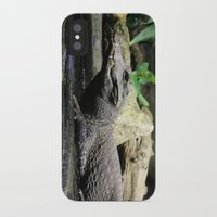 crocodile iPhone & iPod Cases featuring Crocodile by Falko Follert Art-FF77