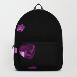 Chaotic Hearts Purple Dapple Backpack