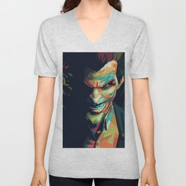 Joker Pop Art Portrait Unisex V-Neck