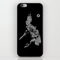 philippines iPhone & iPod Skins featuring Paranormal Philippines (black) by Rev Cruz