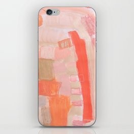 Peach and Feather iPhone Skin