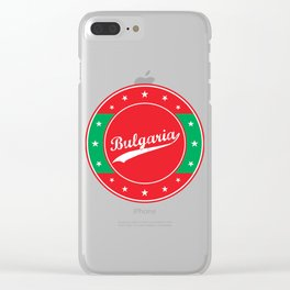 Bulgaria, circle, red Clear iPhone Case