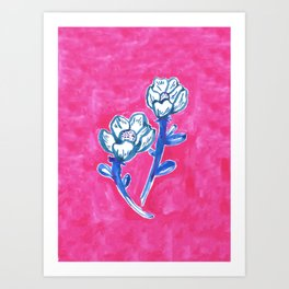 A Pair of Flowers Art Print