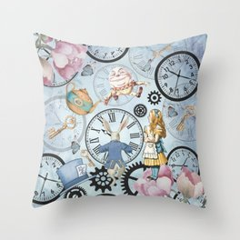 Wonderland Time Throw Pillow
