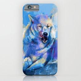Awaken the Wolf - wild wolf digital art, animal painting iPhone Case