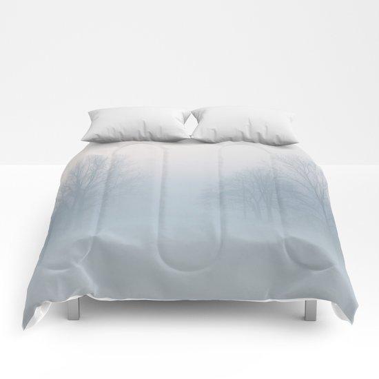 Winter sun Comforters