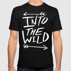 Into the Wild II Tri-Black LARGE Mens Fitted Tee