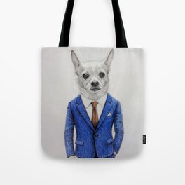 gentleman dog Tote Bag