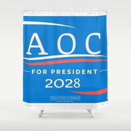 AOC for Prez Shower Curtain