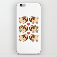 asexual iPhone & iPod Skins featuring Puglie Pride by Puglie Pug