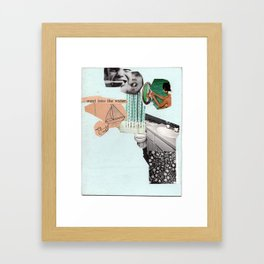went into the water Framed Art Print