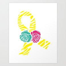 Endometriosis Ribbon 2 Art Print