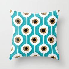 Eye Pod Turquoise Throw Pillow