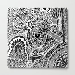 Love Doodle Metal Print