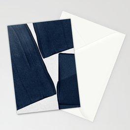 Minimalist Painting Blue III, Mid Century Modern Stationery Cards