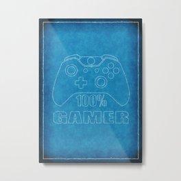 100% Gamer Metal Print