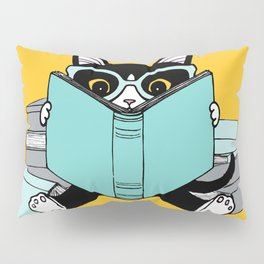 Bookish Clever Kitty Pillow Sham