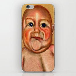 Chubby Poker Face iPhone Skin