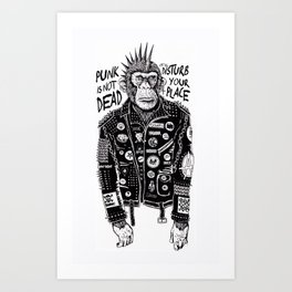 punk is not dead Art Print