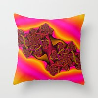 tequila Throw Pillows featuring Tequila Sunrise by Christy Leigh