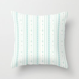 Blush green bohemian arrows zigzag geometrical Throw Pillow