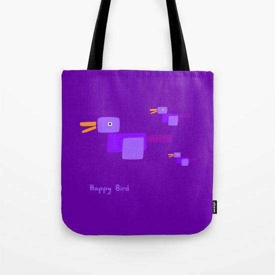 Happy Bird-Purple Tote Bag