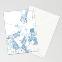 Street MAP Abu Dhabi  // Blue Stationery Cards