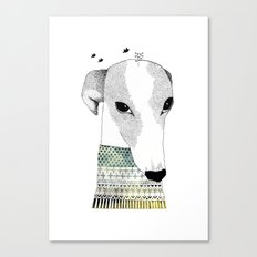 Mr. Galgo Dog Canvas Print