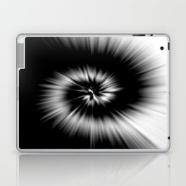 TIE DYE #1 (Black & White) Laptop & iPad Skin