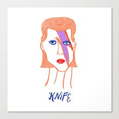 David Bowie Knife Canvas Print