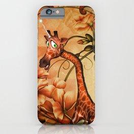 Funny, cute unicorn giraffe iPhone Case