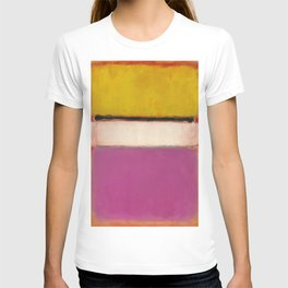 White Center (Yellow, Pink and Lavender on Rose) - Mark Rothko T-shirt