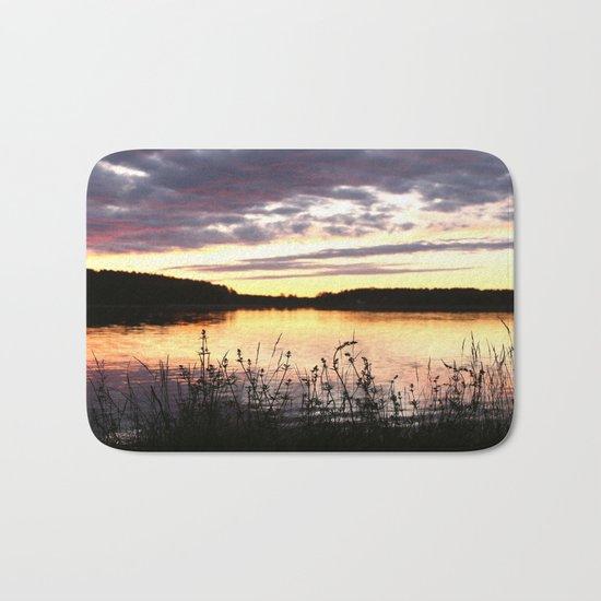 Sunset By The Lake  Bath Mat