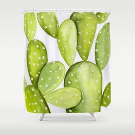 Bohemian Nopales Cactus Shower Curtain