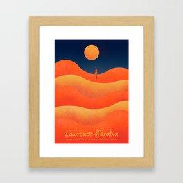 Lawrence of Arabia, vintage movie poster, David Lean, Peter O'Toole, Anthony Quinn, Omar Sharif Framed Art Print