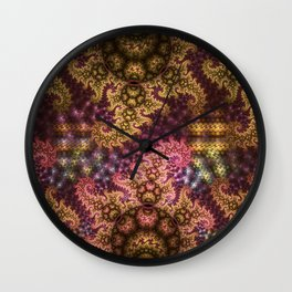 Dragon dreams, fractal pattern abstract Wall Clock