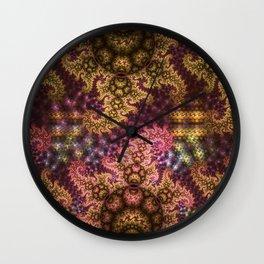 Dragon dreams, fractal pattern abstract Wall Clock
