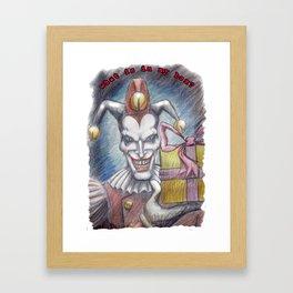 Shaco's Box Framed Art Print