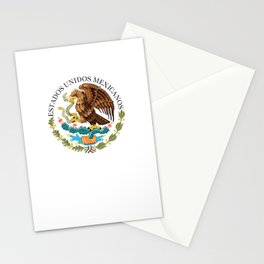 Coat of Arms & Seal of Mexico on white background Stationery Cards
