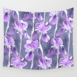 Simple Iris Pattern in Pastel Purple Wall Tapestry