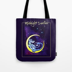 Midnight Surfer Poster Tote Bag