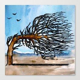 'Opposites' Tree Canvas Print