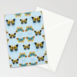 Bird skull pattern Stationery Cards