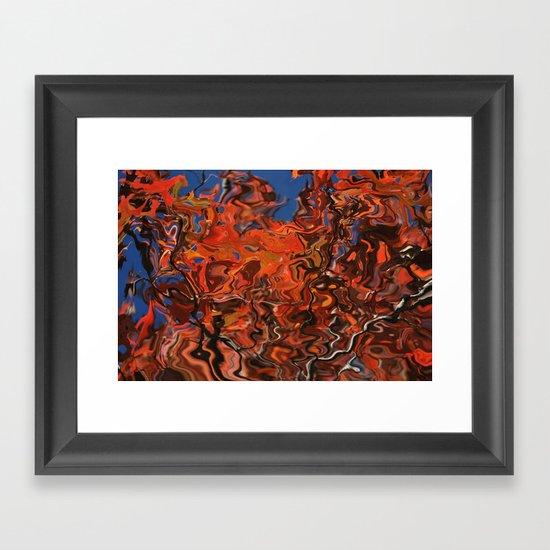 water fall Framed Art Print