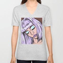 Lilac Bangs Crying Girl Unisex V-Neck