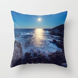 Cove of Moonlight Throw Pillow