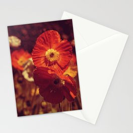 Crimson poppies Stationery Cards