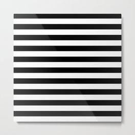 Stripes (Black & White Pattern) Metal Print