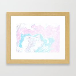 Colorful Waves Marbling Framed Art Print