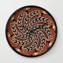 Wind Spirit (Orange) Wall Clock
